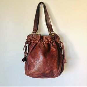Lucky Brand Leather Bucket Bag